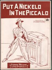 Put A Nickelo In the Piccalo 1938 Clarence Williams Sheet Music