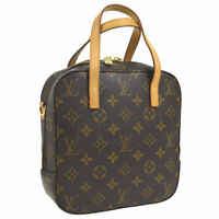 LOUIS VUITTON SPONTINI 2WAY HAND BAG MONOGRAM CANVAS LEATHER M47500 A46511g