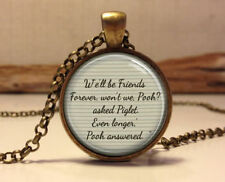 Winnie the Pooh quote necklace.Inspirational quote Pendant.classic pooh jewelry