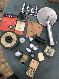 Vintage Photography Accessories Bundle Lens Hood, Wallace Heston Lens, Developer