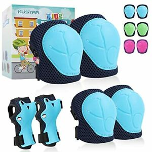 Kids Knee Pads with Gift Box, 6pcs Ultra Breathable Mesh Adjustable Boys Girls