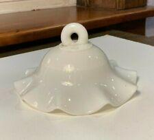 """Milk Glass Kerosene Hanging Oil Lamp Shade Bell 5 3/4' - 5 7/8"""" Diameter 1880s"""