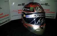 300 GP Michael Schumacher Mercedes F1 helmet signed 1/2 Spa Belgium Formula 1