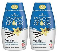 SweetLeaf Sweet Drops Liquid Stevia Sweetener Vanilla 1.7 Ounce 2 pack qty