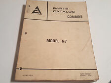 Allis Chalmers AC Gleaner N7 Combine Parts Catalog Manual Book 1979