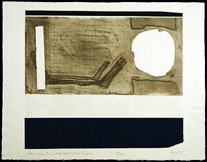 """Kunst in der DDR """"Weltlabyrinth"""" 1990 Multiple Rainer HENZE (*1952) handsigniert"""