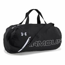 Under Armour Unisex Packable Duffle Bag Black/White Medium 1256394-004