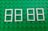 *NEW* Lego White 2x3x1 Flat Window Panes Pirate Ships Houses - 4 pieces