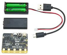 BBC micro:bit Go Computer Bundle Kit With USB Cable, Batteries & Battery Case US