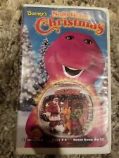 Barney's Night Before Christmas [VHS] Clamshell  16 songs CLAMSHELL FREE SHIP