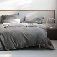 Deco by Linen House Newman Charcoal Quilt Cover Set Single Double Queen King