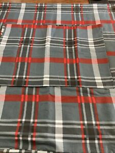 King Size Multi Check Duvet Cover Set With x2 pillowcases cotton