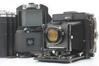 【MINT】 Horseman 45FA w/ Topcon P.T 180mm f5.6 Lens + Rotary Back + Holders JAPAN