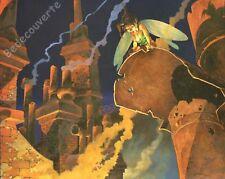 Affiche BD Régis LOISEL Peter Pan Fée Clochette Toits Angoulême 950ex 24x30 cm