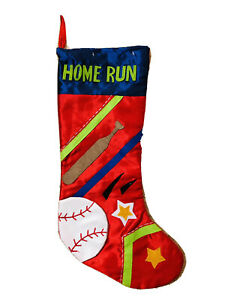 20 In Baseball Home Run Red Christmas Stocking