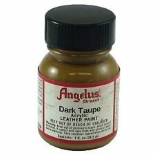 Angelus Acrylic Leather Paint Water Resistant  Dark Taupe - 1 Fl.OZ