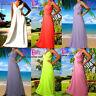 Angela NEW Plain Summer Beach Evening/Cocktail Long Women Maxi Dress 8- 26 US