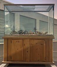 "110 Gallon 1/2"" Glass Aquarium Tank Sump Pump Filters, Accessories With Cabinet"