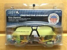 New Howard Leight Uvex Bayonet Safety Shooting Glasses, Amber Lens