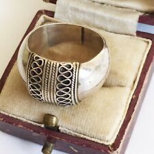Wide Vintage Solid Silver Patterned Wedding Ring Hallmarked 925 Top Quality