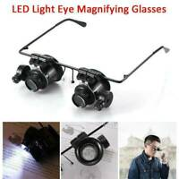 20X LED Loupe Magnifying Glasses Jeweler Microscope Watch Repair Tools Magnifier