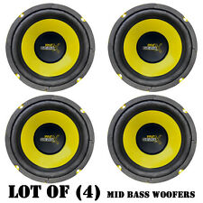 "Lot of (4) Pyle PLG64 6.5"" 300 Watt, 4 Ohm, Mid Bass Woofers, Car Audio System"