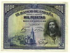 BILLETE DE 1000 PESETAS DE 1928 (MBC) SAN FERNANDO (SIN SERIE)