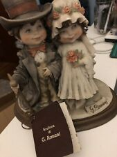Guiseppe Armani Wedding Couple Statue Florence 1982 Guilvers Travels Series Oval
