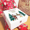 Personalised Colour Printed White Christmas Eve Box - Santa, Reindeer & Sleigh