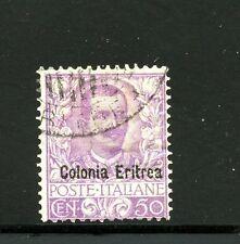 Eritrea #27 (ER721) Italy O/P Colonia Eritrea, Used, FVF, CV$32.50