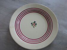 ancien plat service ceramique Gien decor vintage cuisine retro france