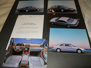 MERCEDES BENZ classe S  dossier de presse media press kit - ed. 07/1998