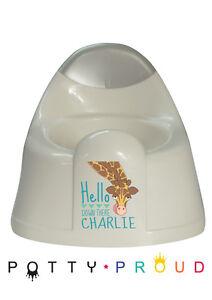 Personalised Giraffe Design Training Potty Kids Bespoke Toddler Boy or Girl
