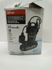 Everbilt 12 Hp Submersible Aluminum Sump Pump With Tethered Switch