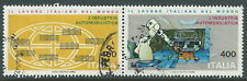 1983 ITALIA USATO DITTICO LAVORO ITALIANO NEL MONDO - D2
