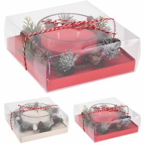 Candle Pot Christmas Decoration   Traditional Candle Ornament Table Centrepiece
