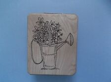 INKADINKADO RUBBER STAMPS WATER CAN OF FLOWERS NEW STAMP