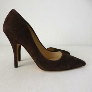 KATE SPADE NEW YORK High Heel Shoes Brown Suede  Pumps NEW Size 6B Made In Italy