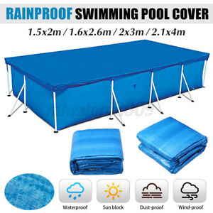Rectangular Heat Retaining Solar Swimming Pool Cover For Above-Ground Pool #