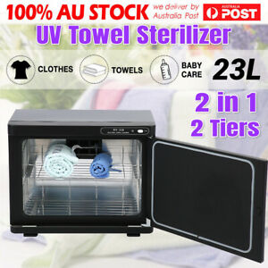 23L Hot Towel Sterilizer Warmer  Cabinet Heater Disinfection Salon Beauty