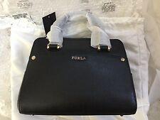 New $428 FURLA Margot Leather Satchel Handbag Black Onyx