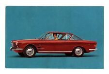 A Beautiful Blonde and  Fiat 2800 S Coupe Postcard 1964