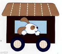 "3.5"" Lambs ivy choo choo express dog on train nursery prepasted wall border"