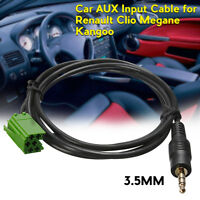 Aux Input Adapter Cable For Renault Clio Megane Laguna Scenic MP3 iPod iPhone