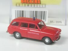 Top Brekina modello speciale VW t2 bus con tetto alto vigili del fuoco ad Amburgo in scatola originale