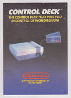 Nintendo NES Control Deck Manual Instruction Booklet ONLY