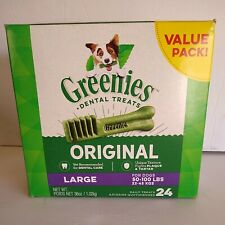 New listing Greenies Original Dental Treats Large For Dogs 50-100lbs Box Of 24 Exp June 2022
