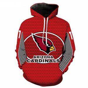 ARIZONA CARDINALS Unisex Hoodie Hooded Pullover S-5XL Football Team Logo