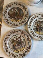 Set Of Three Decorative Plates Weinlese Germany