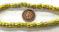 Antique Uncirculated Venetian Padre  Striped  African Trade Beads { 25 } V309UC